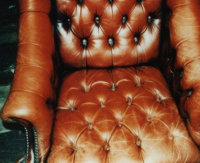 leather armchair before